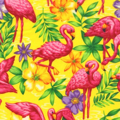 Hot Pink Florida Tropical Flamingo Birds
